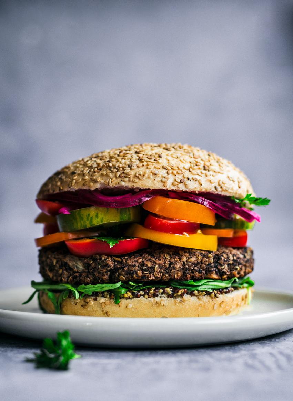 Vegan Black Bean Quinoa Burgers | occasionallyeggs.com