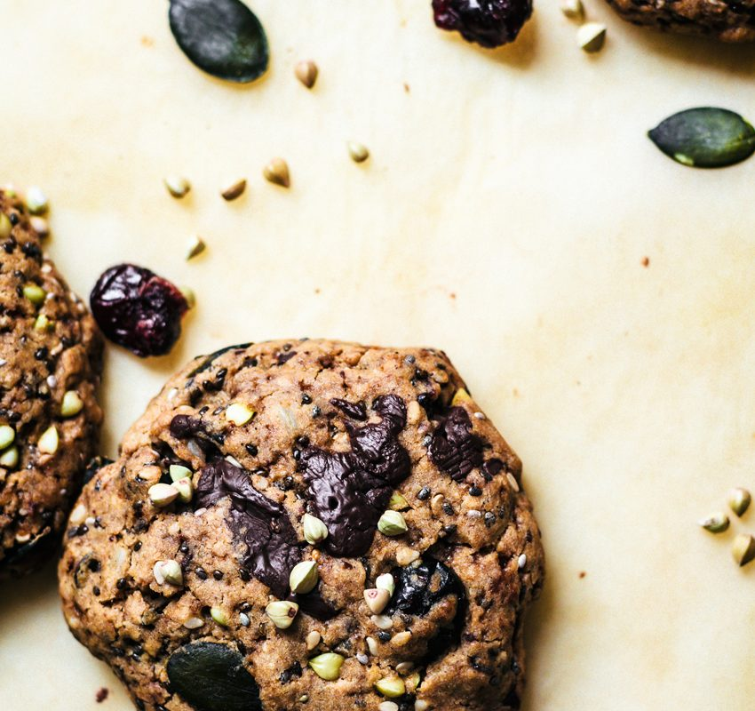 Buckwheat Trail Mix Cookies | occasionallyeggs.com #glutenfree #veganrecipes #healthycookies