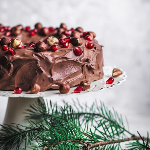 Vegan Chocolate Hazelnut Cake with Chocolate Ganache | occasionallyeggs.com
