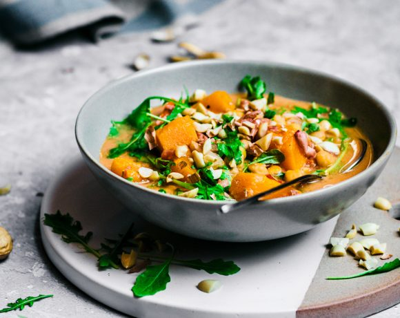 West African Peanut Soup with Pumpkin and Chickpeas