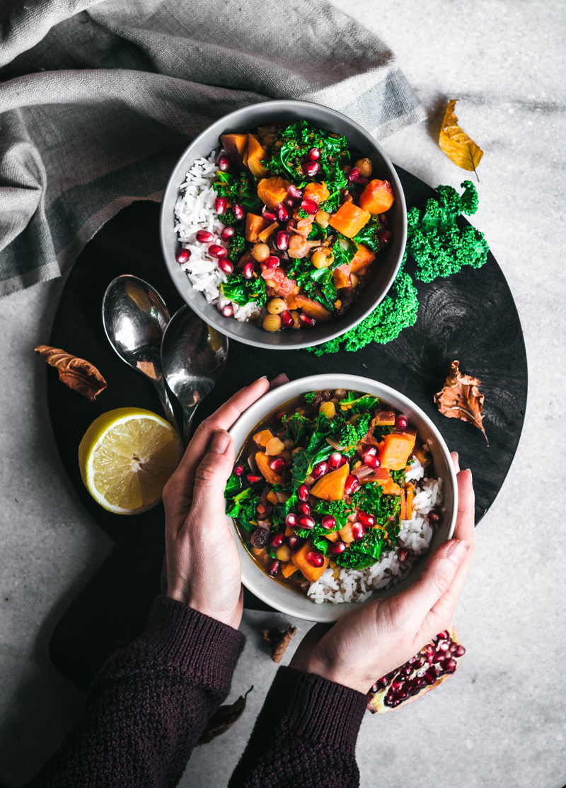 Moroccan Chickpea, Sweet Potato, and Kale Stew | occasionallyeggs.com