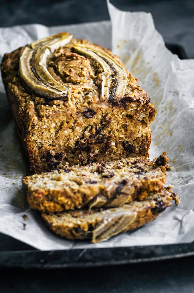 Chocolate Chip Coconut Banana Bread | occasionallyeggs.com #veganrecipes