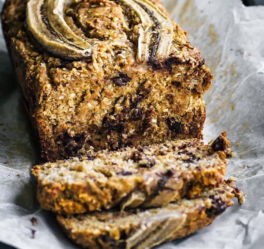 Chocolate Chip Coconut Banana Bread | occasionallyeggs.com #veganrecipes