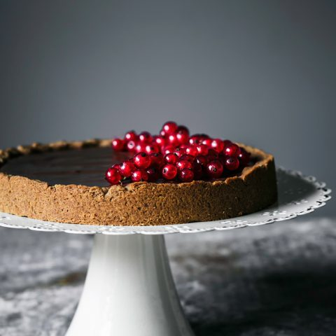 Chocolate Hazelnut Tart   occasionallyeggs.com #veganrecipes #glutenfree
