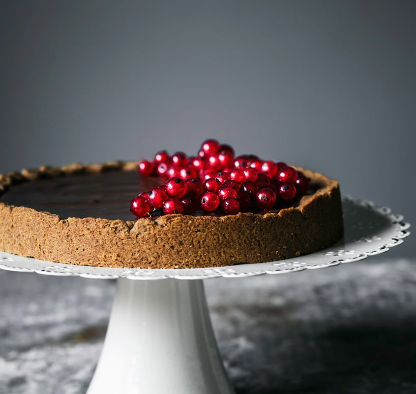 Chocolate Hazelnut Tart | occasionallyeggs.com #veganrecipes #glutenfree