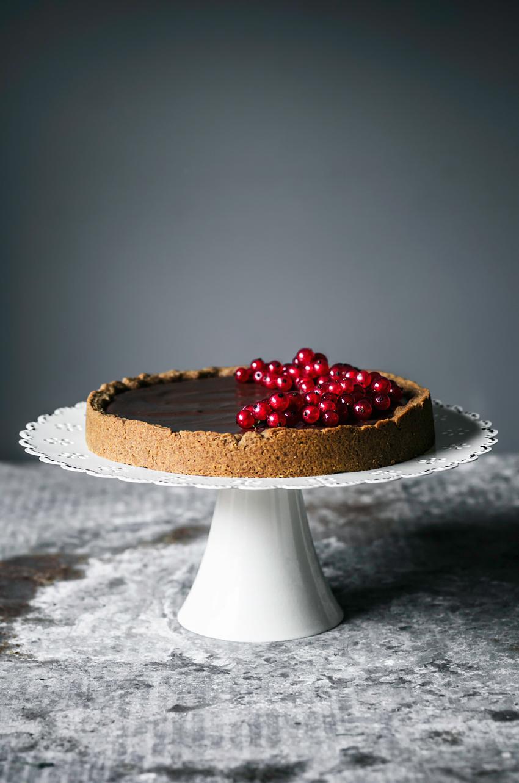 Chocolate Hazelnut Tart | occasionallyeggs.com #veganrecipes #glutenfree