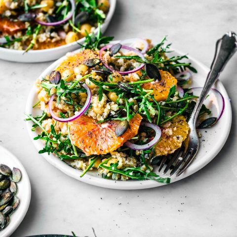 Winter Freekeh Salad with Orange | occasionallyeggs.com #healthy #winterrecipes #veganrecipes