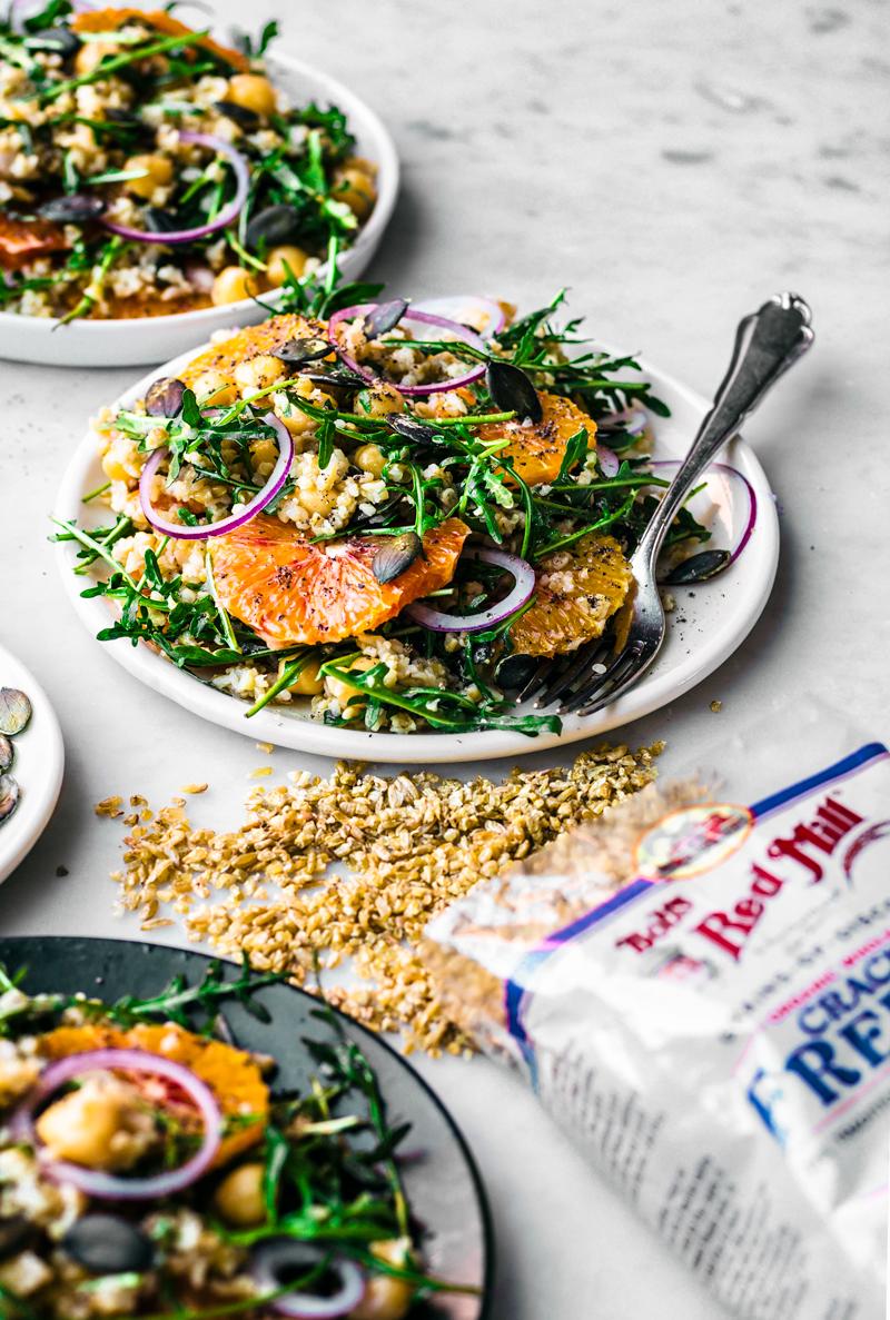 Winter Freekeh Salad with Orange   occasionallyeggs.com #healthy #winterrecipes #veganrecipes