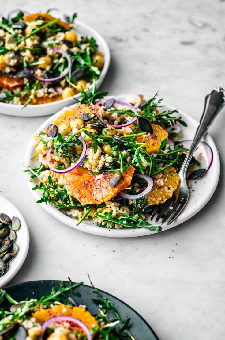 Winter Freekeh Salad with Orange | occasionallyeggs.com #freekeh #veganrecipes #healthy