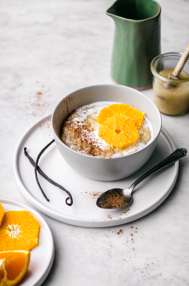 Orange Vanilla Brown Rice Pudding | occasionallyeggs.com #dairyfree #brownrice #veganrecipes