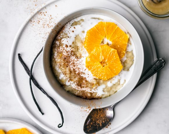 Orange Vanilla Brown Rice Pudding | occasionallyeggs.com #dairyfree #brownrice #veganrecipes