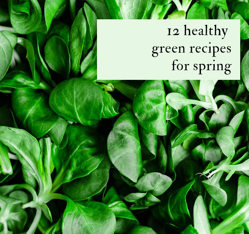 12 Healthy Green Recipes for Spring | occasionallyeggs.com #spring #healthy #vegetarian