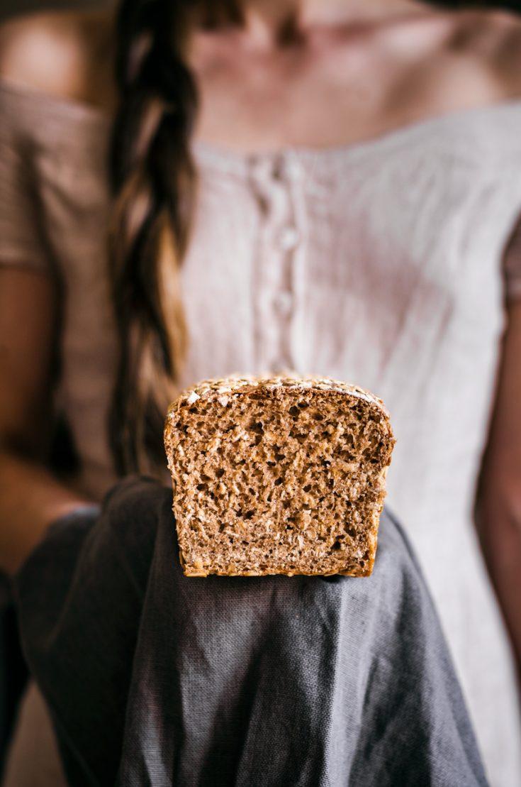 Healthy Honey Oat Bread