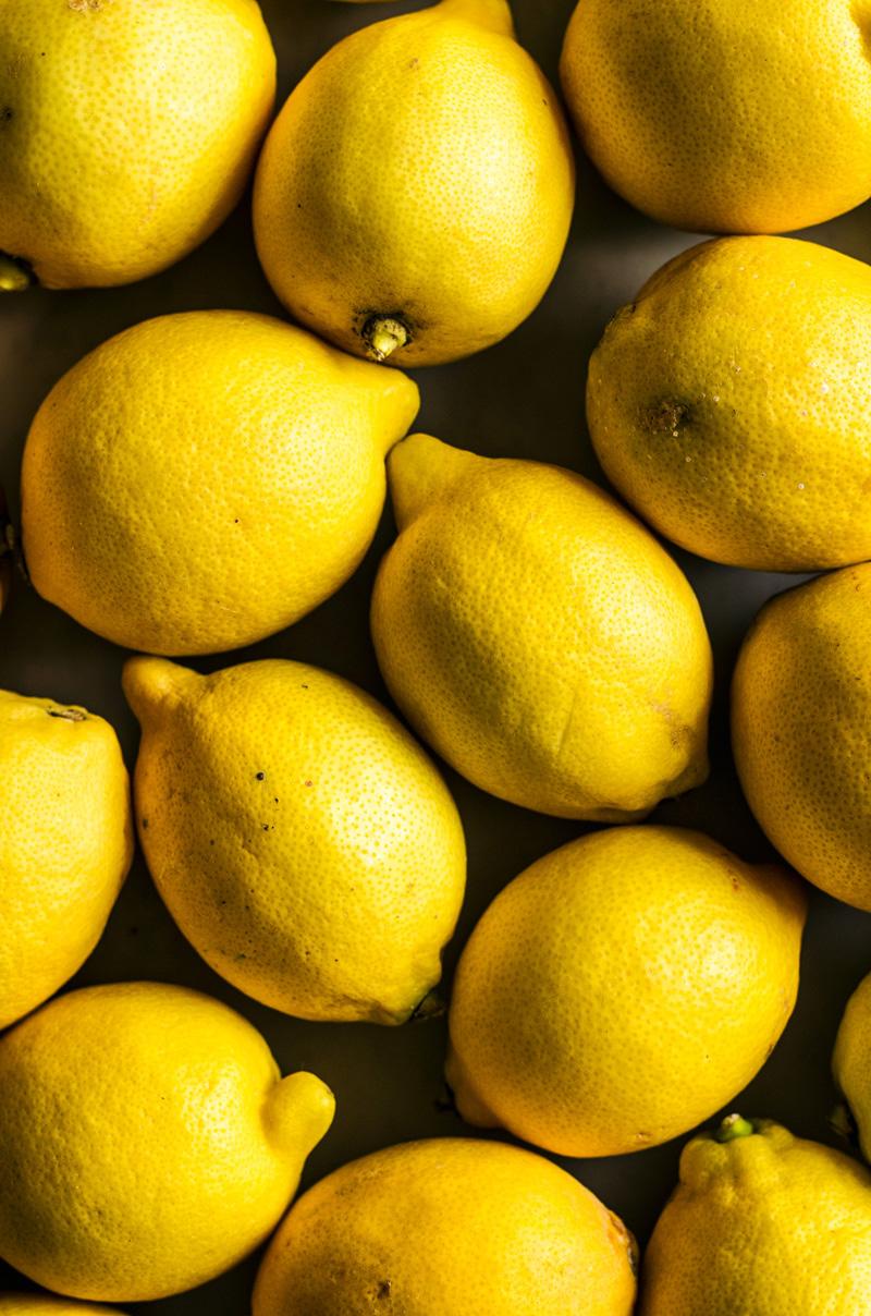 Several lemons, pushed together.