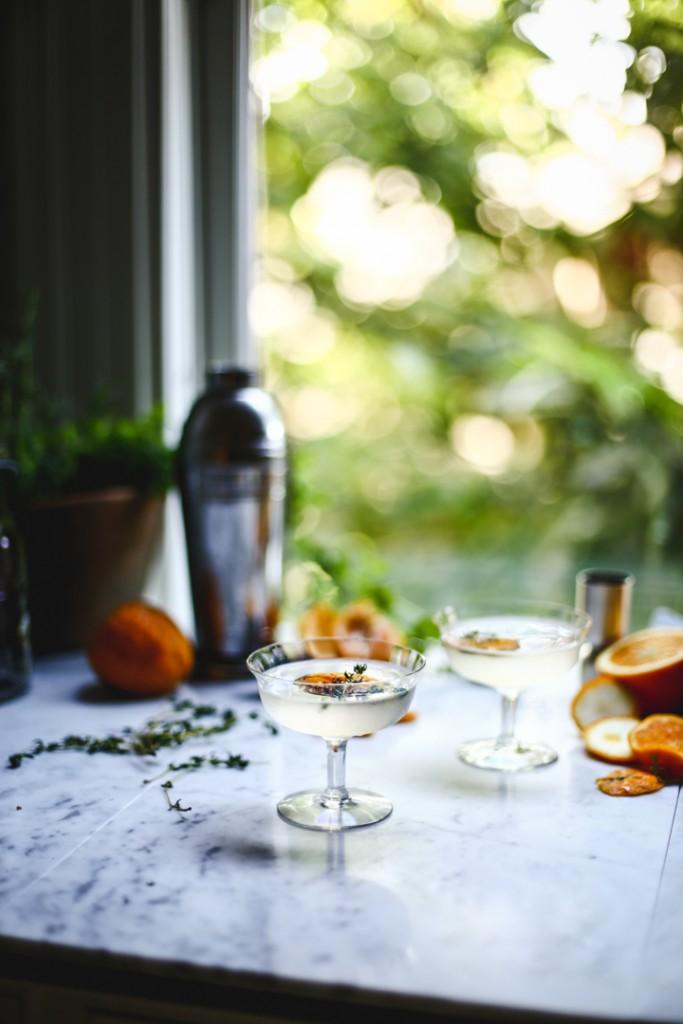 Charred Mandarin, Thyme & Ginger Cocktail