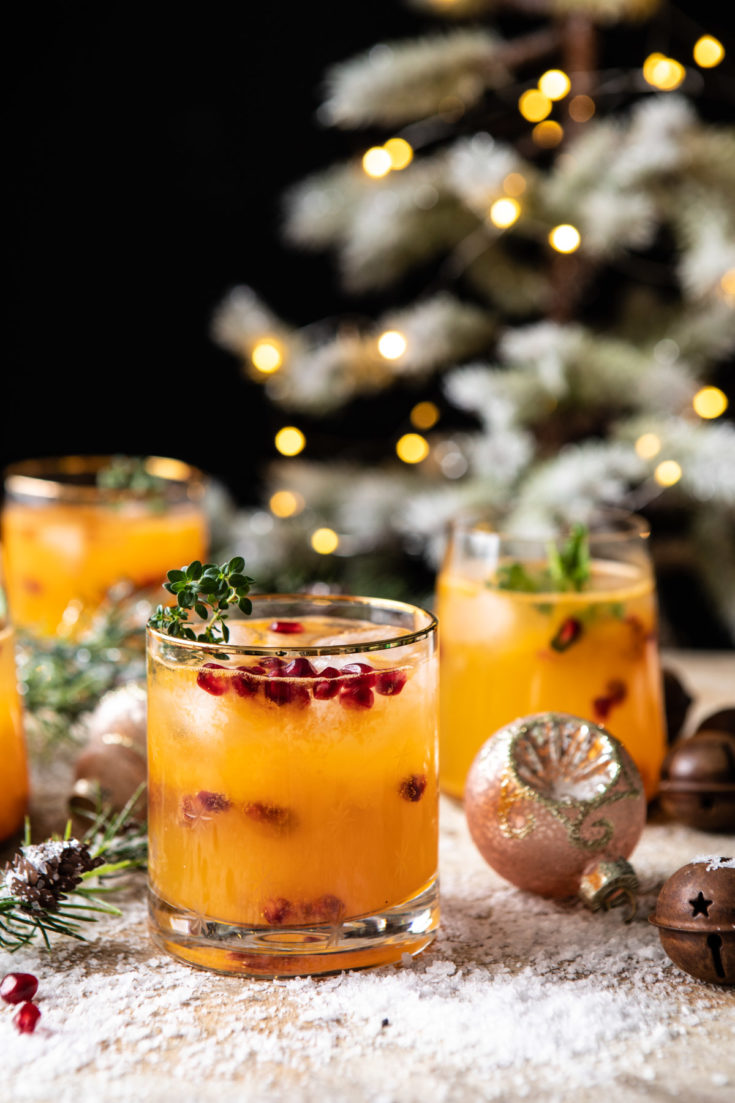 Holly Jolly Christmas Citrus Cocktail