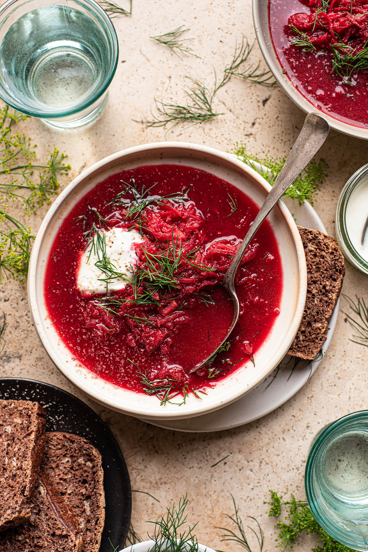 Vegetarian Borscht Occasionally Eggs