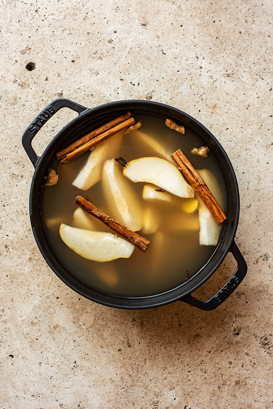 Cider before cooking.