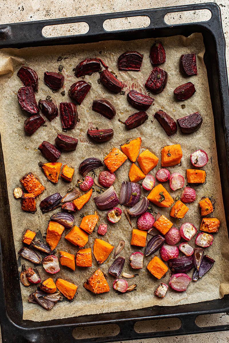 Vegetables after roasting.