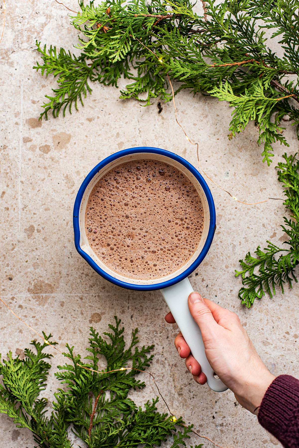 Blended hot chocolate.