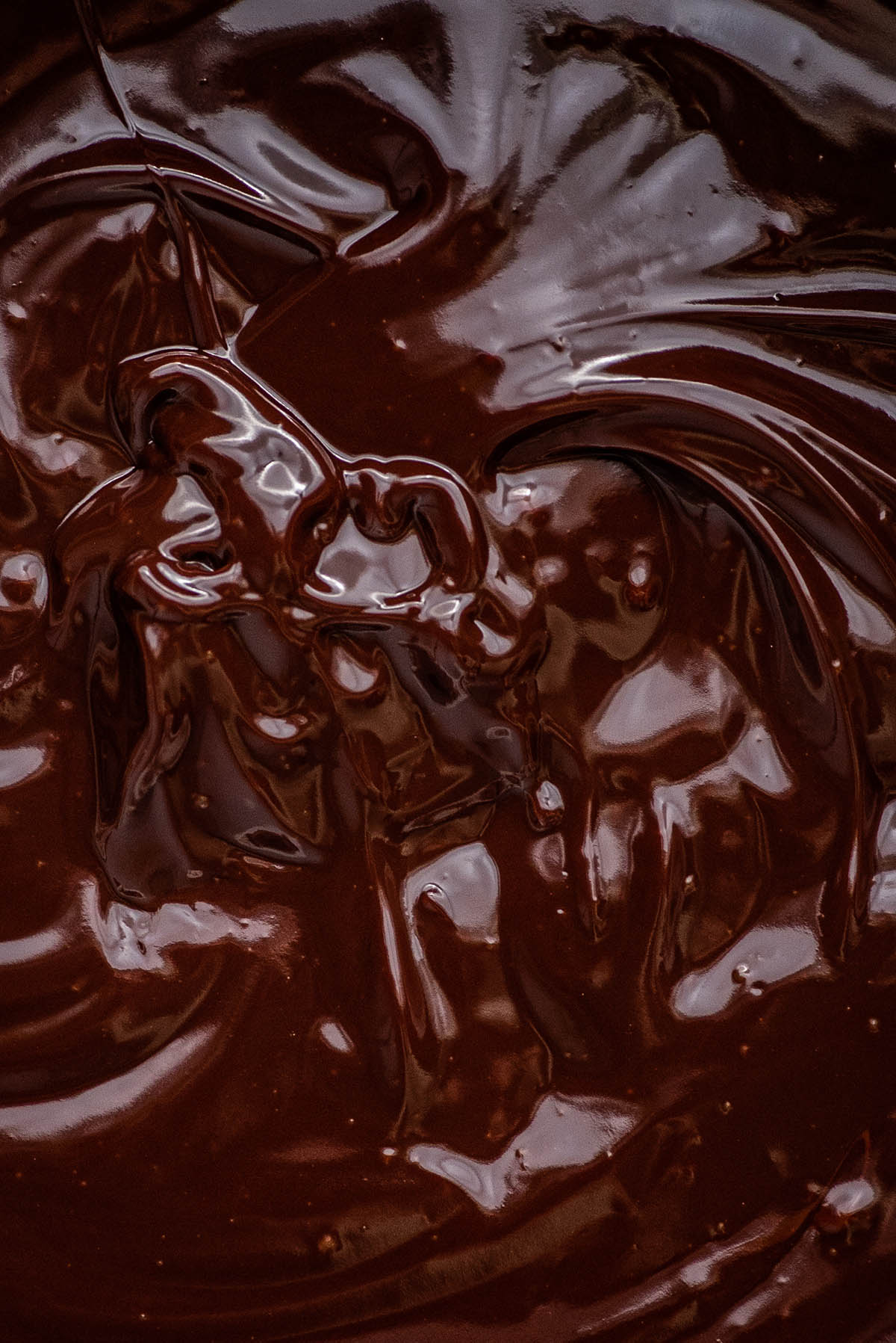 Close up of ganache.
