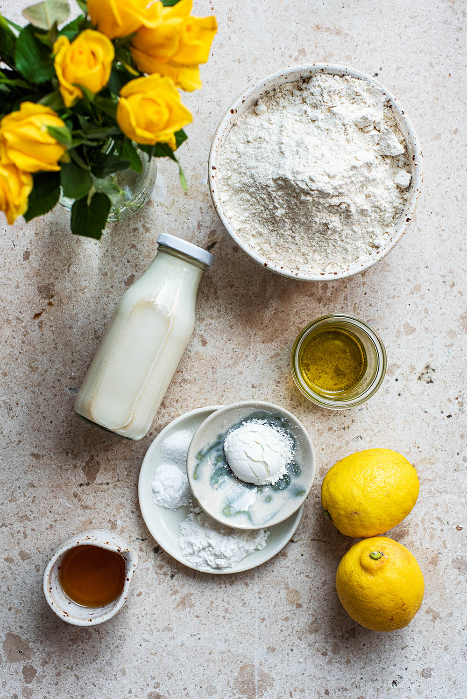 Lemon pancake ingredients.