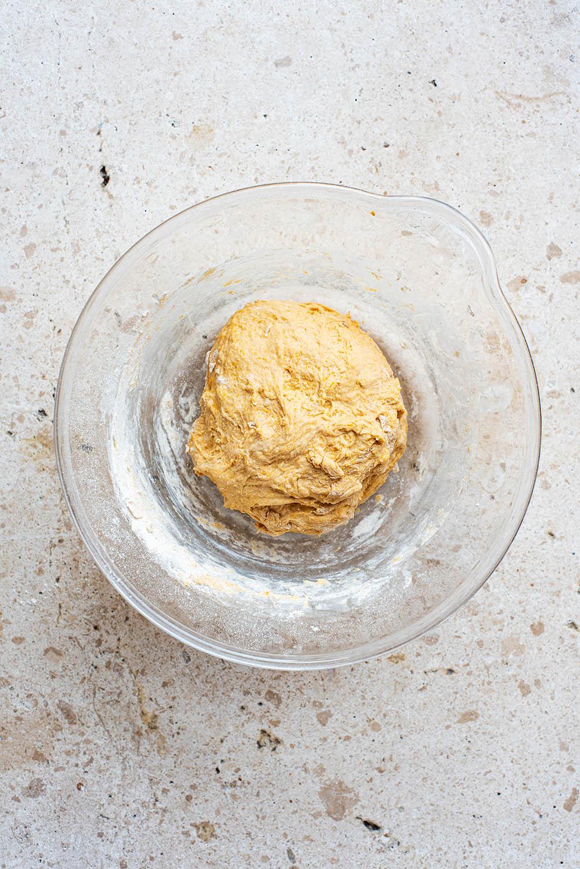 Dough after mixing.