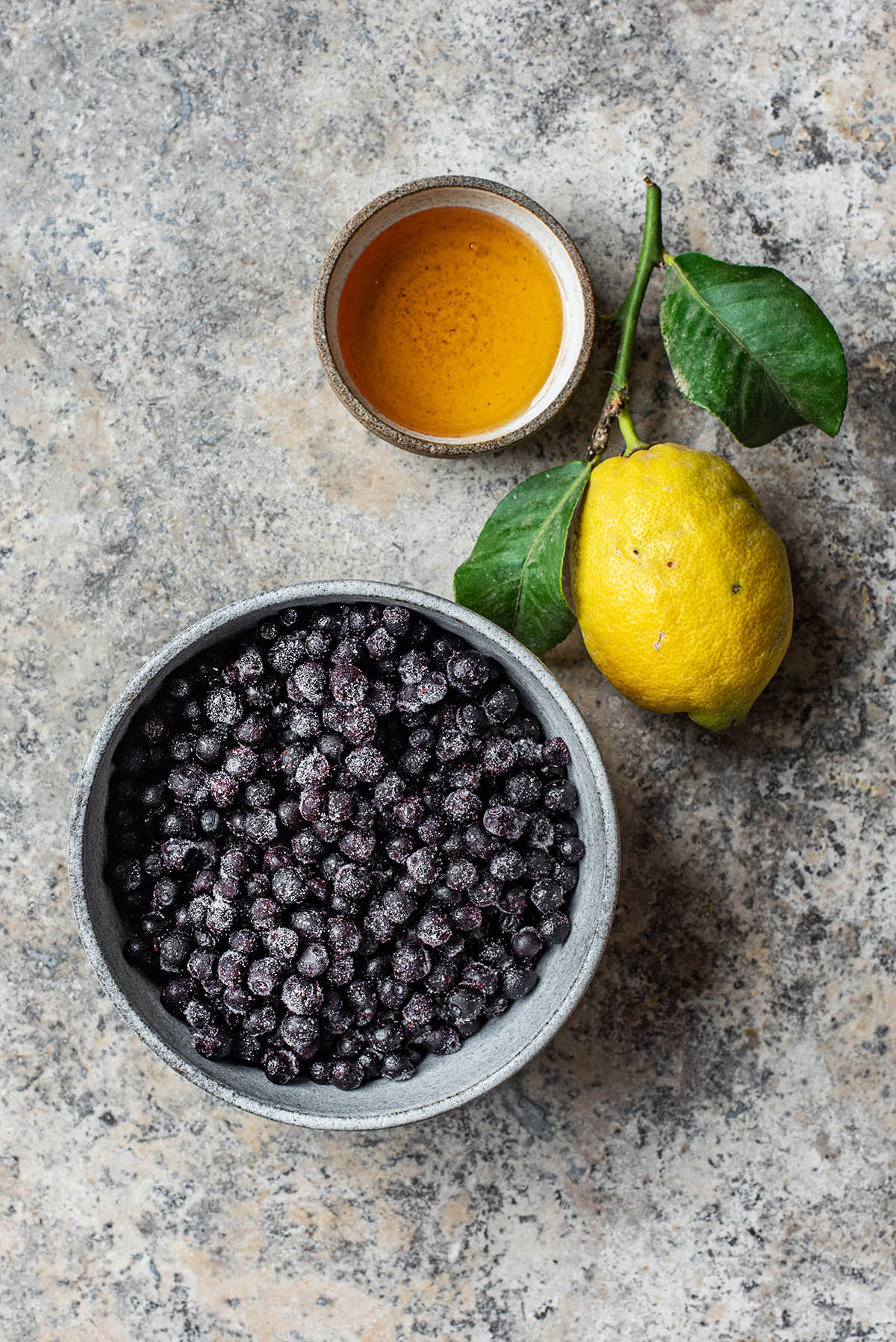 Blueberry Compote ingredients.