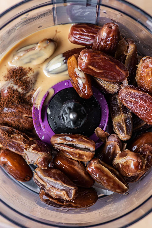 Date caramel before blending.