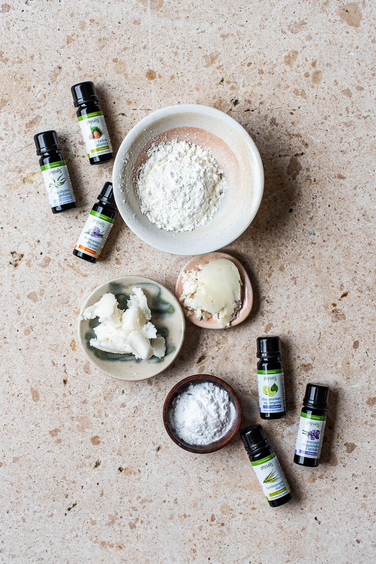 Homemade Deodorant for Sensitive Skin ingredients.