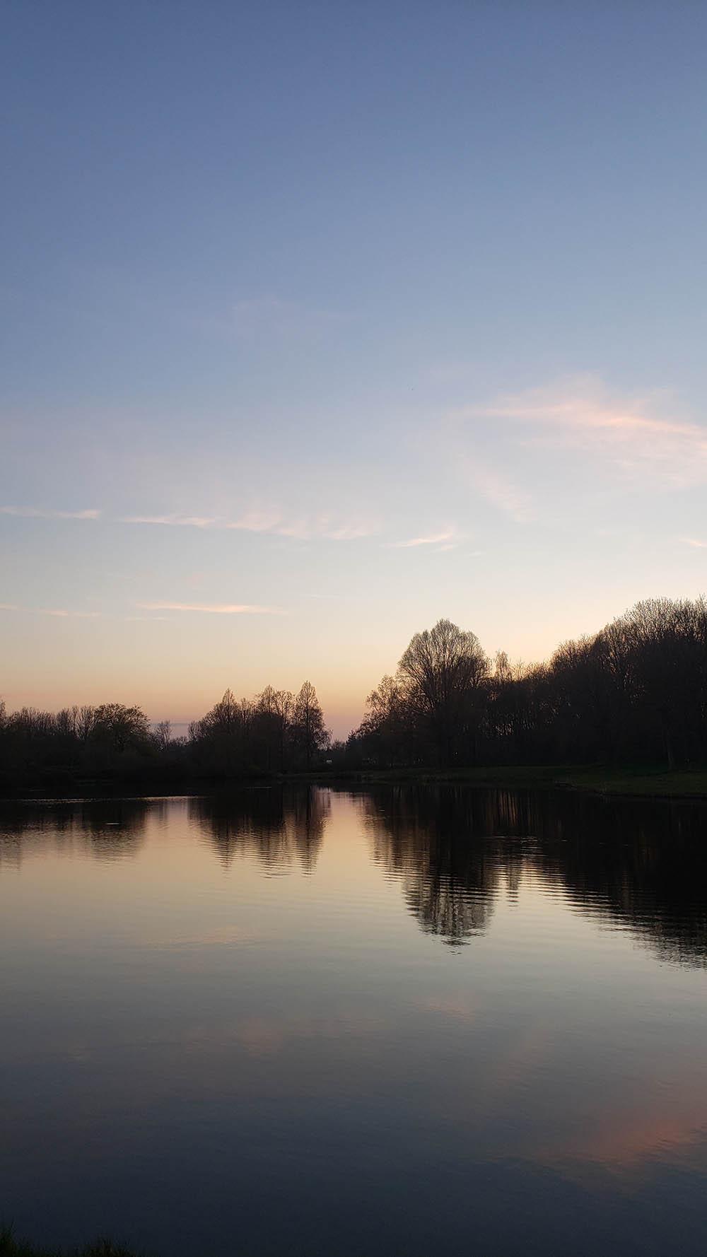 Small lake at twilight.