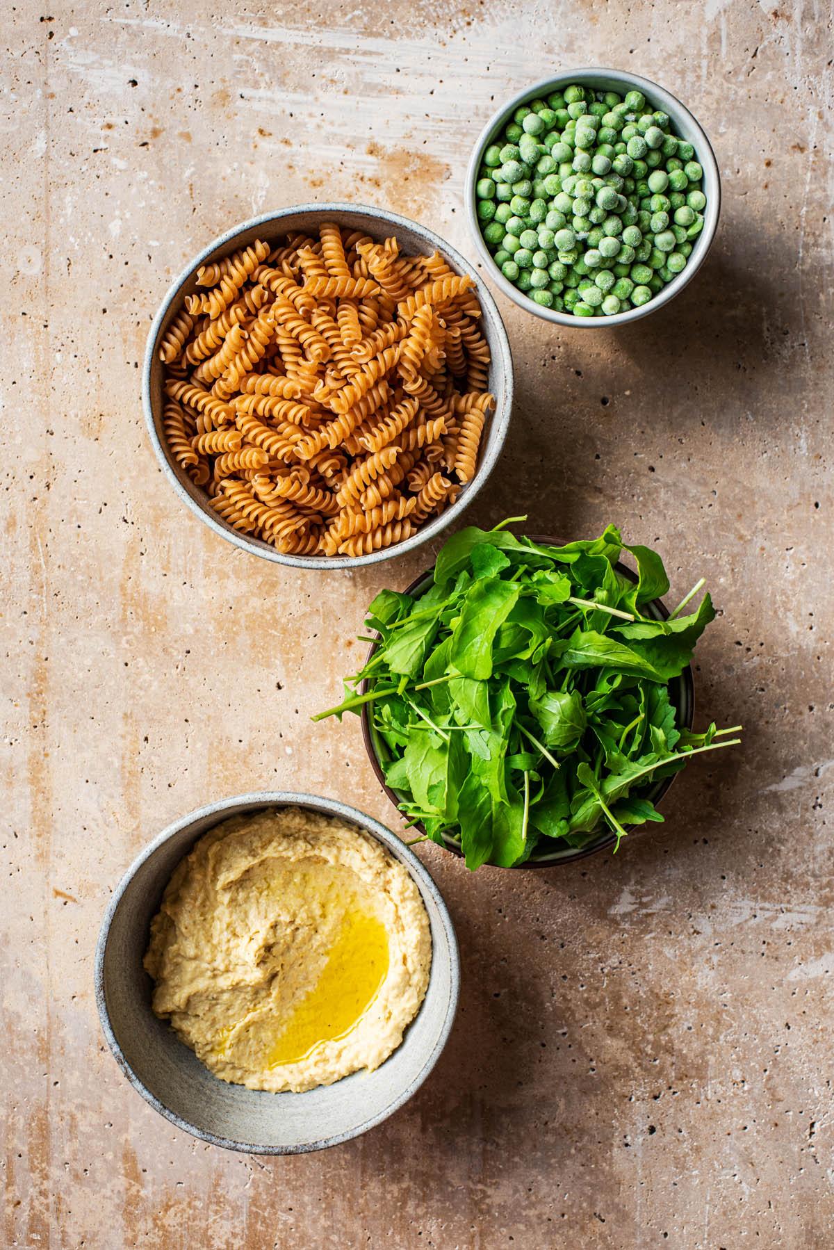 Hummus Pasta Ingredients.
