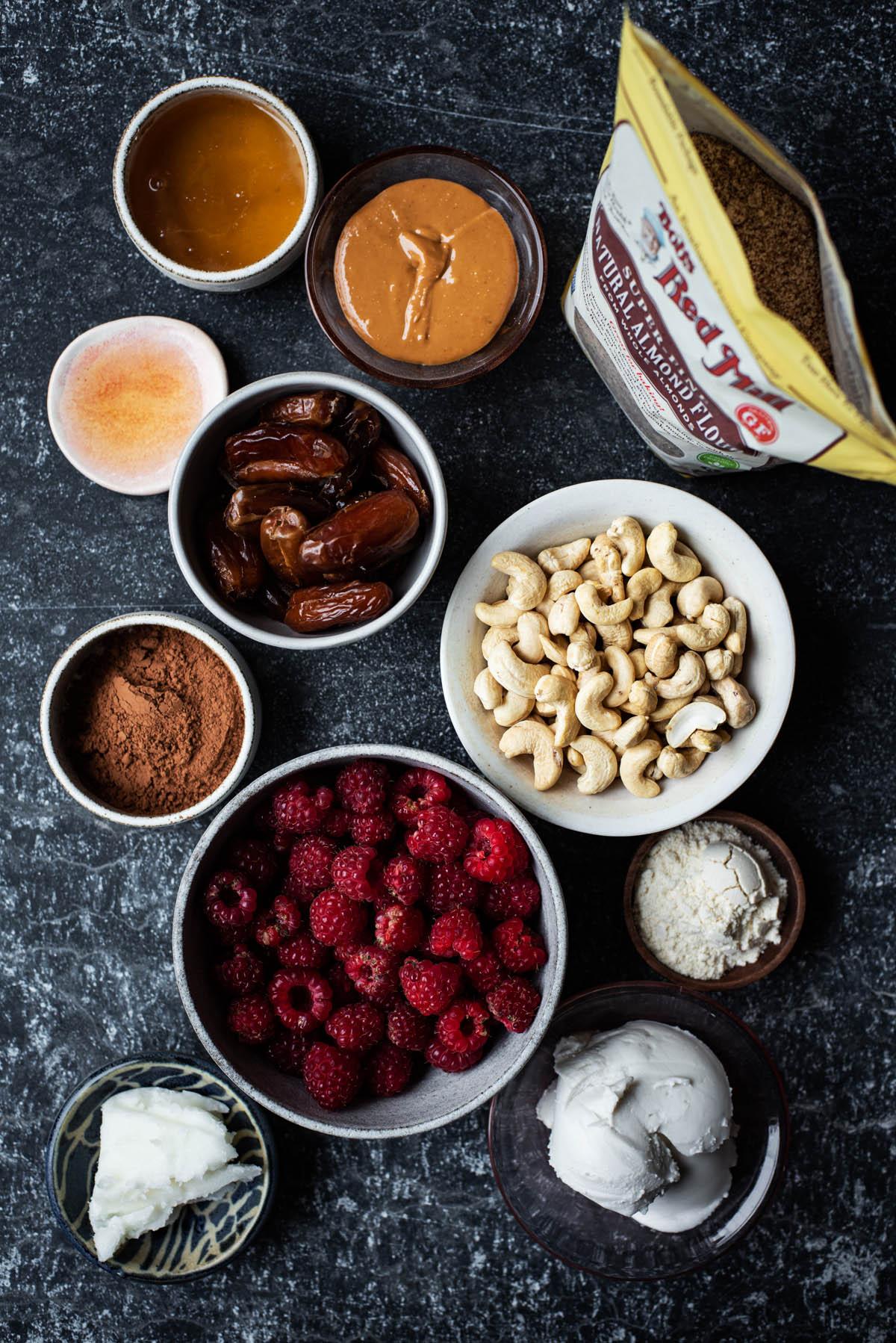 Gluten free ice cream sandwich ingredients.
