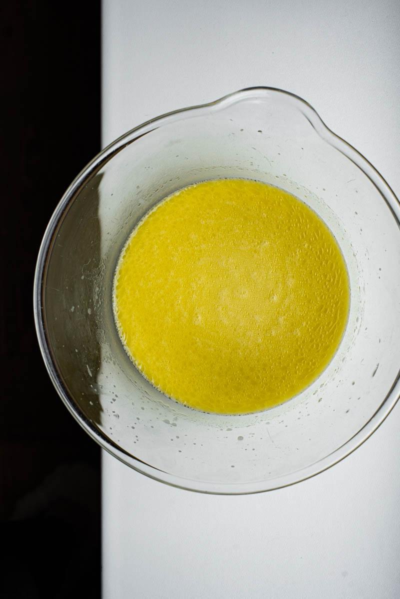 Liquid ingredients after mixing.