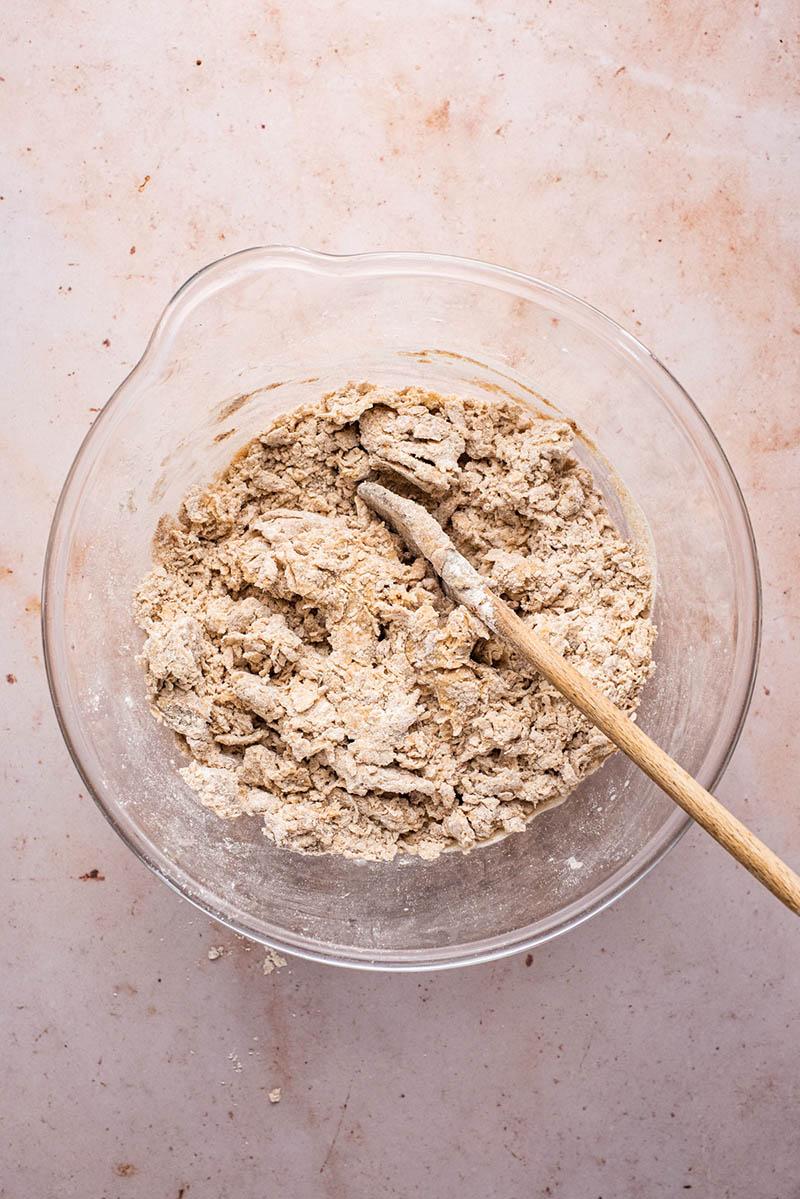 Dough before kneading.